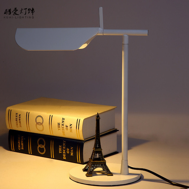 Novel Table Lamp Led Desk Lamp For Study Room 30*38cm White/Black/Yellow/Blue Home Decoration Bedside lamp With Switch WTL001