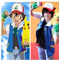 Free Shipping  Pokemon Ash Ketchum Trainer Costume Shirt Jacket  not with  Gloves  Hat S M L XL 2XL