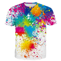 Paint Splatter Prints tshirts Men Women Hipster Rainbow 3D t shirt tee Male Female Street Hippie t shirts Harajuku Tees Tops
