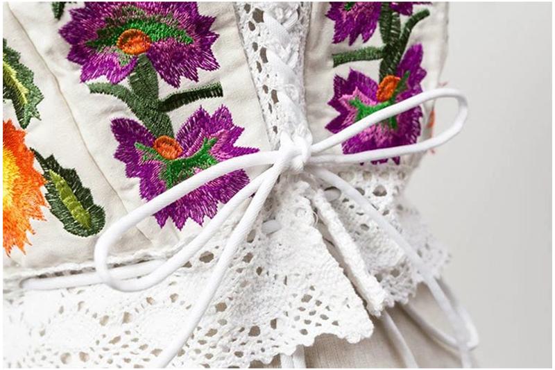 Nymph sexy crochet Top vintage flor Bordado Camisetas de tirantes ...