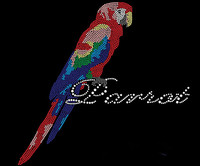 FS Colorful Parrot Applique Patches Iron On Transfer Iron On Rhinestone Transfer Designs Hot Fix Rhinestone