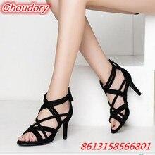 Fashion Narrow Band font b Women b font Sandals Sexy Open Toe High Heels font b