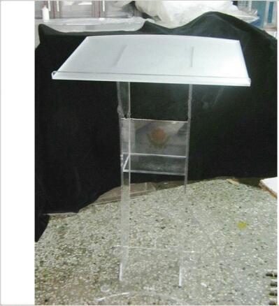 Wholesale Free Shipping Acrylic Lectern Podium Rostrum Pulpit Plexiglass Cheap Pulpit Acrylic Dais Clear Acrylic Church Podium