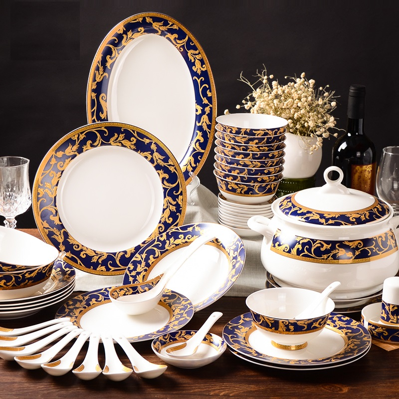 buy good quality ceramic tableware set chinese style dinnerware sets bone china. Black Bedroom Furniture Sets. Home Design Ideas