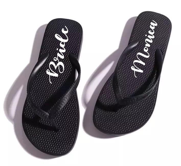 9c7f1558084 Free shipping 5 pairs lot Personalized Summer PVA Wedding flip flops ...
