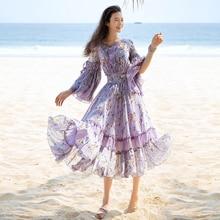 новые лето платья оборки