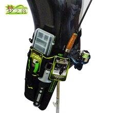 夢釣り19 × 6 × 33センチメートル釣りバッグ + ルアーボックス1200Dナイロンウエスト脚バッグ釣竿ホルダーツール収納ケースペスカボルサペシェ