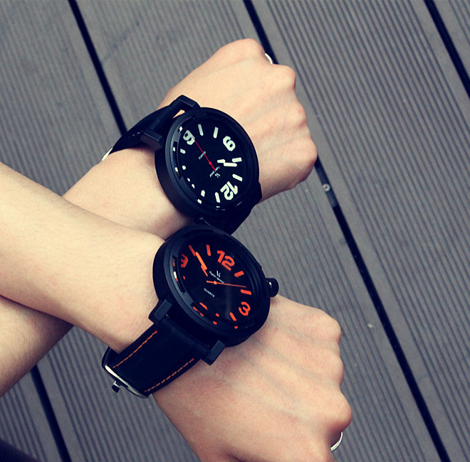 Quartz Watch Simple Creative Personality Men Watches Korea Fashion Trend Military Sports Students Men's Large Dial Quartz-watch south korea creative concept fashion personality women men couple watches new trend minimalist gift watches