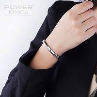 Power Ionics Bracelet 100 Titanium Germanium Balance Body Band 6mm PT018
