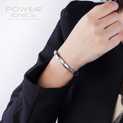 Power Ionics Bracelet 100% Titanium Germanium Balance Body Band 6mm PT018