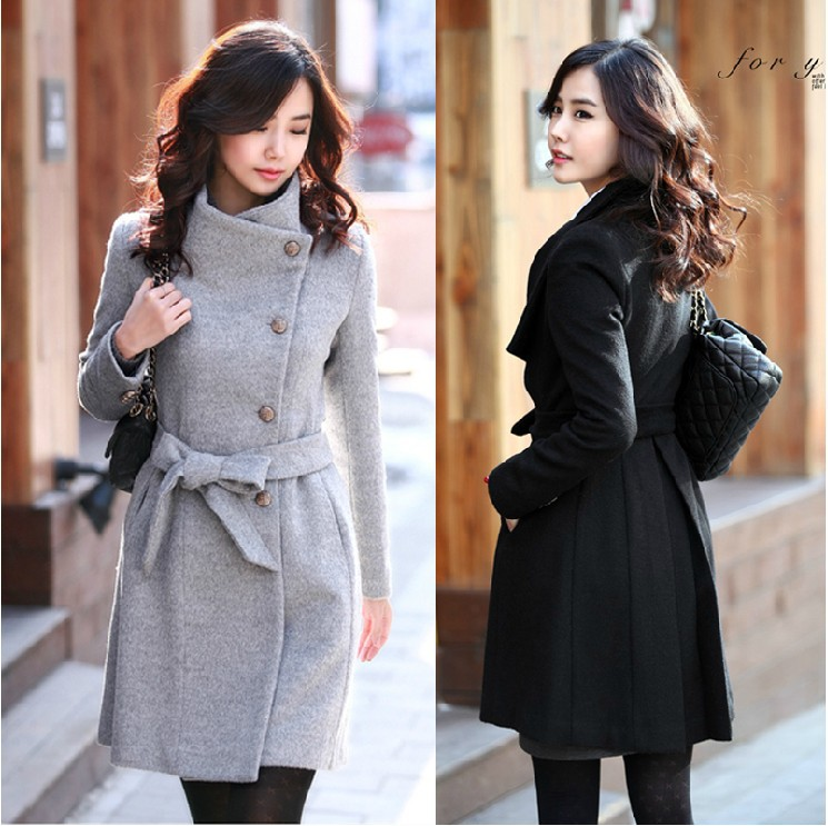 Women S Long Pea Coat Photo Album - Reikian
