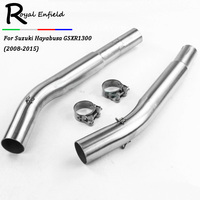 Motorcycle GSXR1300 Exhaust Slip On Connector Link Pipe For Suzuki Hayabusa GSX1300R Modified Muffler Pipe Middle Pipe 2008 2015