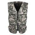 2017 clothing com 16 bolsos cansual homens colete de camuflagem dos homens Regular Homens Colete de algodão Além de Grande Tamanho 5XL Com Hidded bolsos