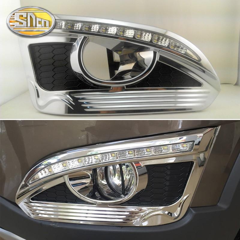 2PCS For Chevrolet Captiva 2014 2015 2016 Yellow Turn Signal Relay Car DRL Lamp Waterproof 12V