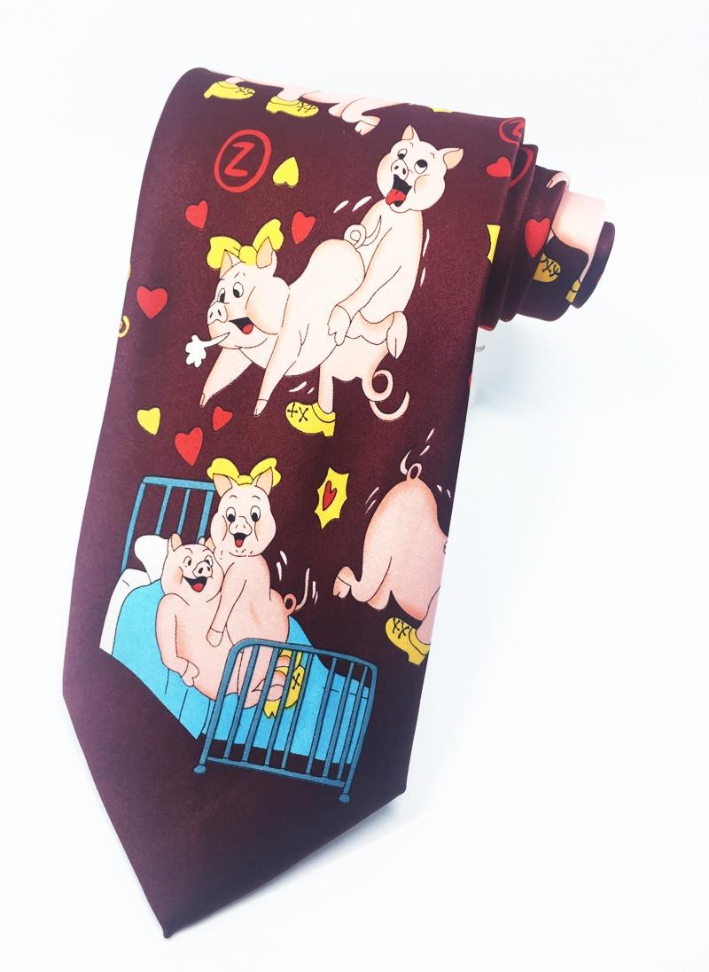 Herd of Pigs Tie Mens Necktie