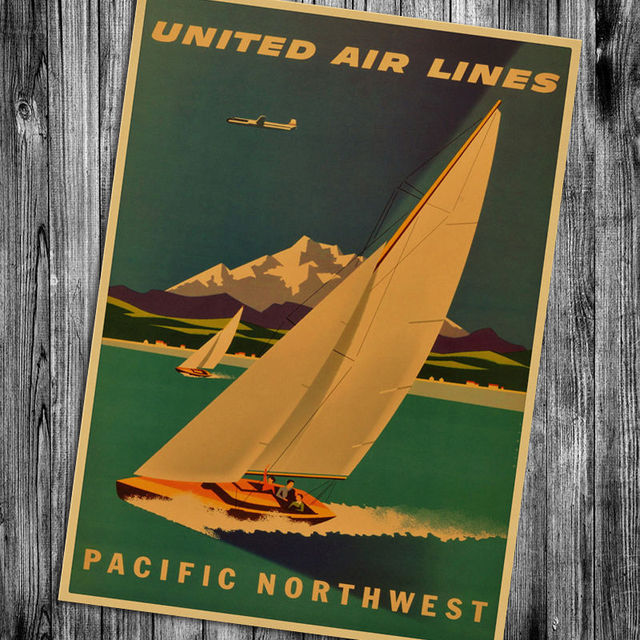 Retro Style Hawaii Kraft Paper Poster 3