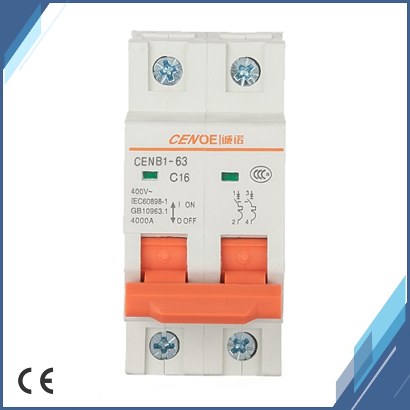 US $6 8 50% OFF|CENOE brand 2P 16A AC 415V Mini circuit breaker with  current overload and short circuit protection for residential lighting-in  Circuit