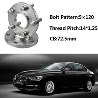 2pcs 5x120 72.5CB Centric Wheel Spacer Hubs M14*1.25 Bolts For BMW F30 F12 F33 F13 F01 F34 F20 F02 F11 F10 F26 F03 F25 F21