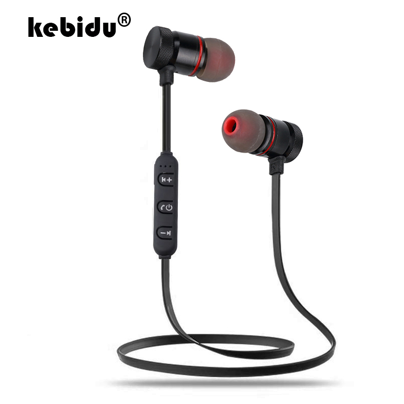 kebidu New Magnetic Earpieces SweatProof Sport Bluetooth Earphone Wireless Stereo Earbuds With Microphone For IPhone Android