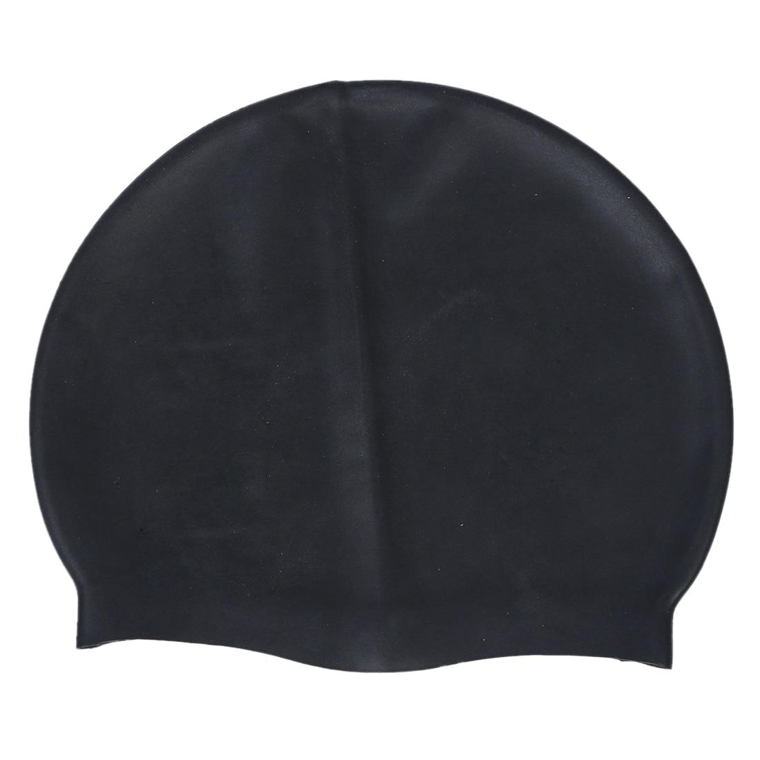 80bc64c523b 2019 Black Soft Silicone Stretchable Swim Swimming Cap Hat For ...
