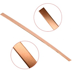 Image 2 - 1pc T2 Cu Metal Copper Bar Plate Copper Strip 1.5mm Thickness 10mmx250mm 99% Pure For DIY CNC Accessories