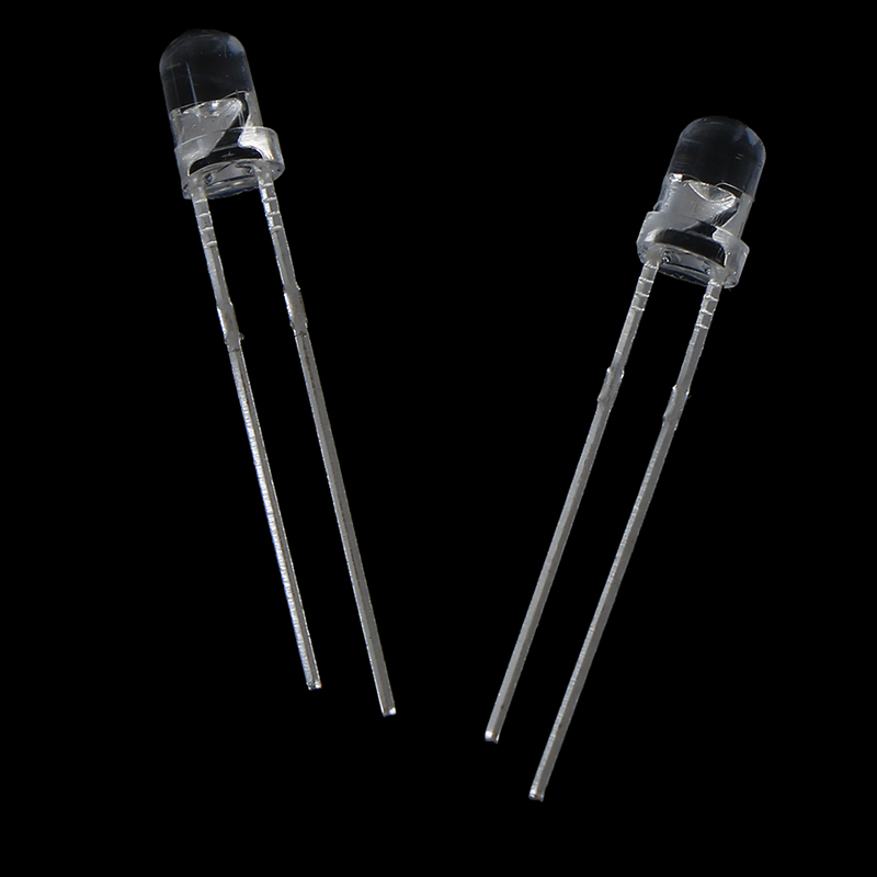 50 Pcs/lot 5 Colors 3mm 2pins Flat Top White Red Yellow Blue Green Wide Angle Light Emitting Diode Lamp LED