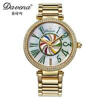 New Rotate Colorful Kite Womens Luxury Wristwatch Women Dress Rhinestone Watches Fashion Casual Gold Silver Watch