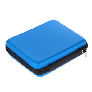 Anti-Shock HDD Bag Hard Disk Case Zipper Pouch External Protector Cover HDD EVA Bag with Strap for Nintendo 2 DS Console Blue