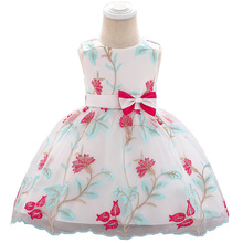 Baby Girl Dress Children Bow Embroidered Princess Dress Kids Wedding Party Clothes недорого