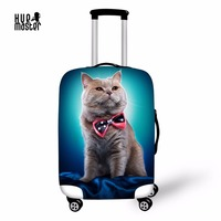 Travel Accessories Suitcase Protective Covers Waterproof Elastic Luggage Cover Enjoy Life Cat Print Man Woman Luggage
