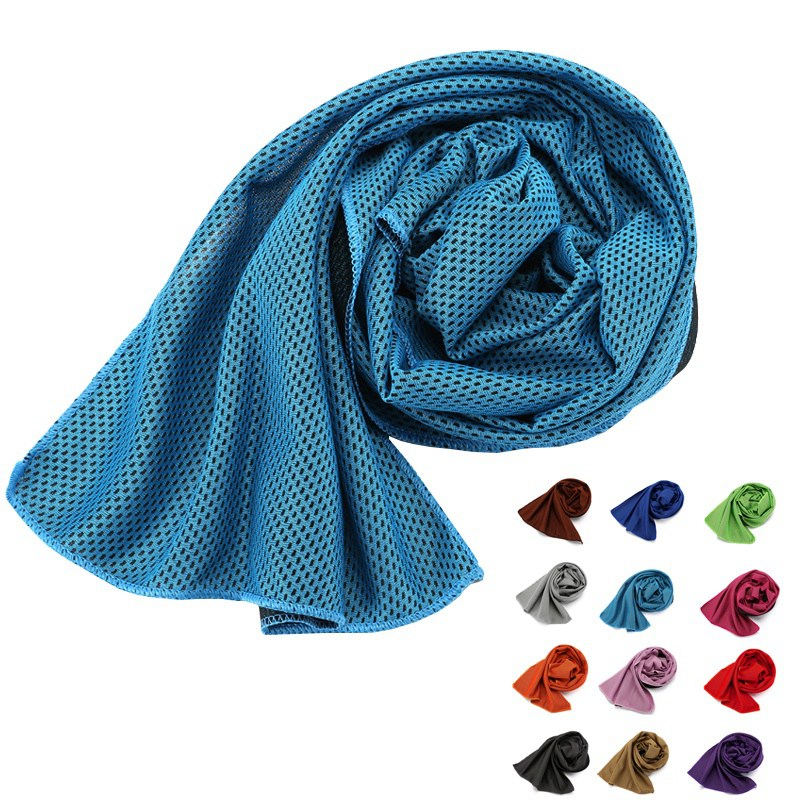 new Reusable Sports Gym Jogging Enduring Running Instant Ice Cold Chilly Cooling Sports Towel in Swimming Towels from Sports Entertainment