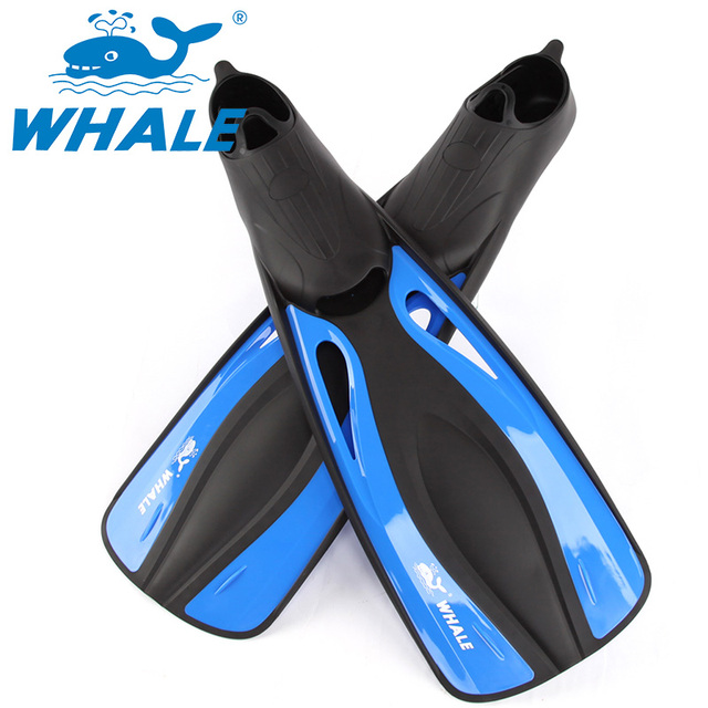 WHALE Adult Swimming Fins Adjustable Submersible Long Fins Foot Swimming Flipper Diving Fins for men and women