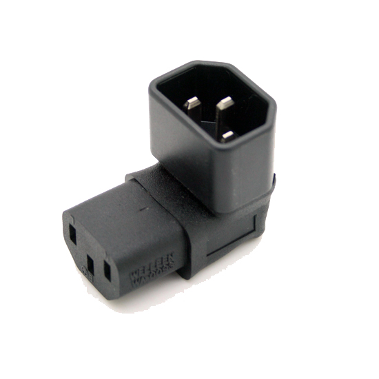 Right Angled IEC Convert Adapter, Down Angled IEC 320 C14 to C13 for TV Wall C13 TO C14 #WPT604 free shipping iec 320 c14 to saa australia 3 pin female power adapter for pdu ups ac plug converter wpt604