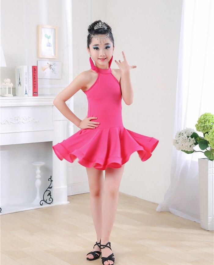 Negro Rosa Latino danza para Niñas moda Salón baile vestido para ...