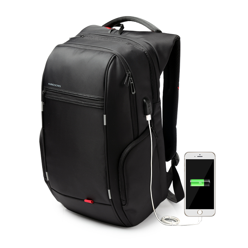 ФОТО Antitheft Notebook Backpack 15.6 inch Waterproof Computer Backpack for Men Women External USB Charge Laptop Bag