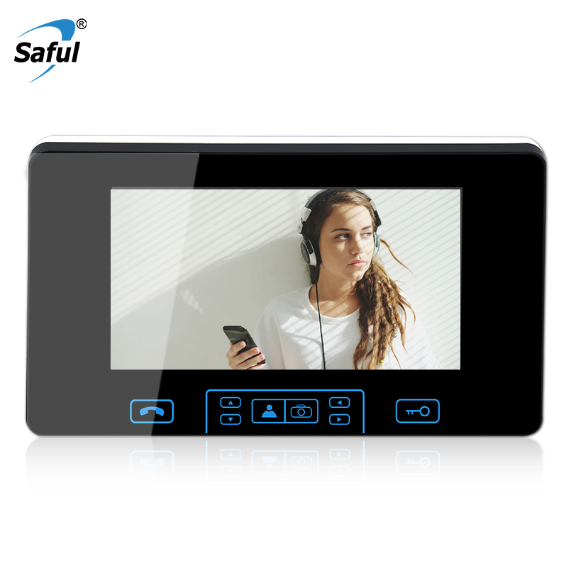 Saful 7 Indoor Monitor Video Door Phone Doorbell Intercom System Video Recording Photo Taking Silver Wall Mounting top qualitySaful 7 Indoor Monitor Video Door Phone Doorbell Intercom System Video Recording Photo Taking Silver Wall Mounting top quality