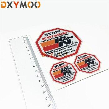 Adesivi Per Auto Adesivi riflettenti di Avvertimento di ARRESTO di Non Gettare Filtro Attrezzature Caricatore Decalcomanie Del Motociclo
