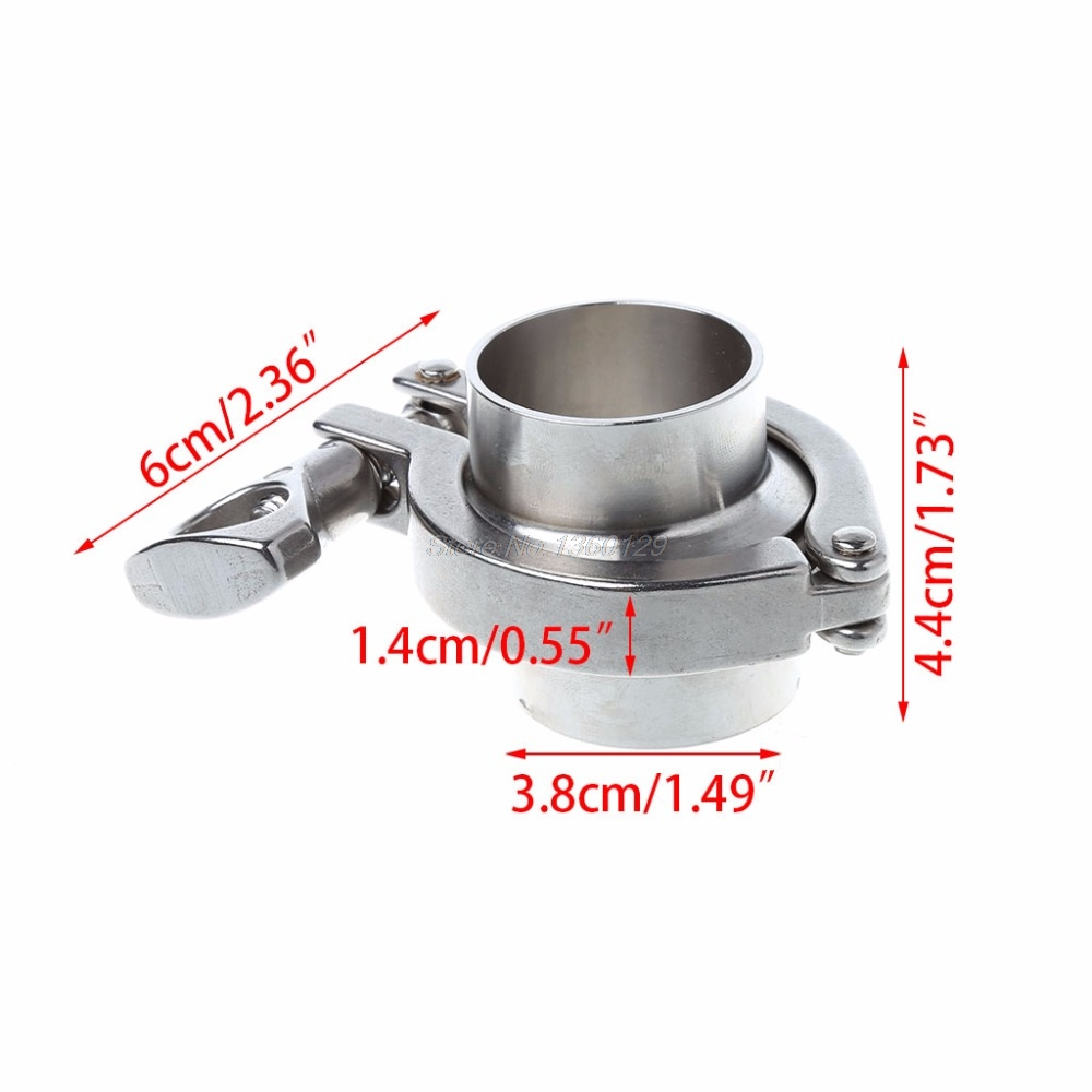 38mm 1.5 OD SS304 Sanitary Pipe Weld Ferrule + Tri Clamp + PTFE Gasket Set 304 Stainless Steel 273mm od sanitary weld on 286mm ferrule tri clamp stainless steel welding pipe fitting ss304 sw 273 page 9