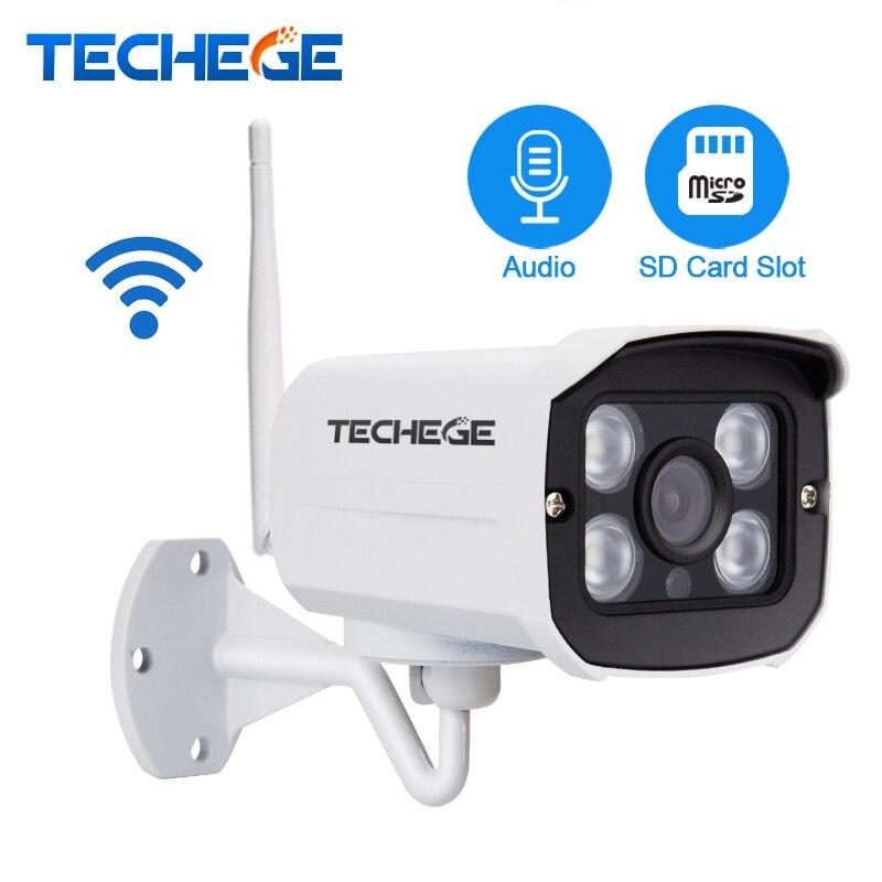 imágenes para HD 1080 P Ranura Para Tarjeta SD Inalámbrica Cámara 2.0MP wifi IR de Visión Nocturna Cámara de Seguridad de Audio de Metal Shell Impermeable Al Aire Libre Yoosee