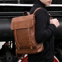 New Backpack Feminina Bag Infantil Men Backpack Students of High Quality PU Leather Backpack Male Adult Back Packs Bolsas