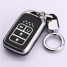 Zinc alloy+Luminous Car Remote Key Case Cover For Honda Civic Accord Pilot CRV HR-V City Odyssey Fit Freed 2016 2017 2018 2019