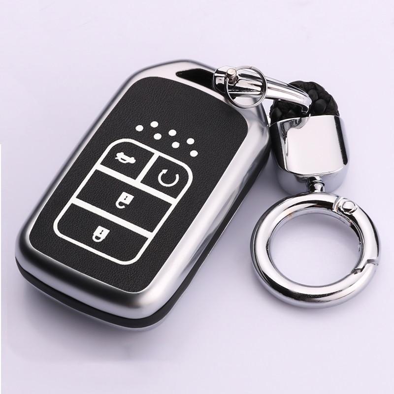 Leather Black//Red stitch key case for HONDA Accord EX Odyssey 2013 on case