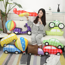 Cute Stuffed Transportation Soft Plush Toys Creative Car Bus Truck Aircraft Dolls Kids Toy New Year Gift Toys For Children