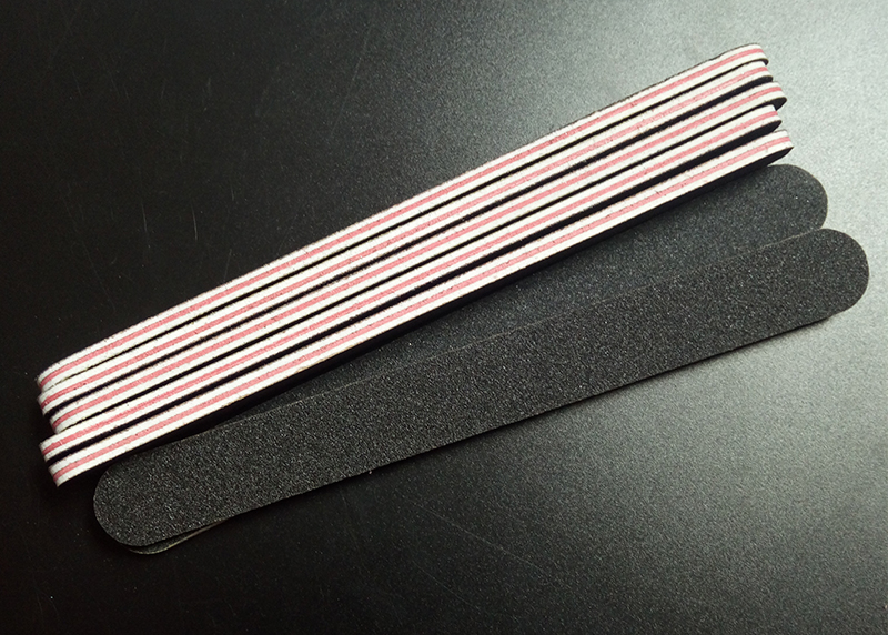 5pcs set black sandpaper with RED heart nail file 180 240 Professional Art Nail File Grit For Manicure Natural Nails in Nail Files Buffers from Beauty Health
