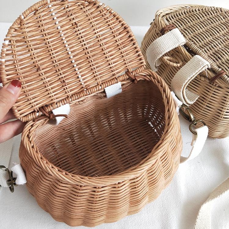HTB14zMUaRWD3KVjSZFsq6AqkpXa3 Small big Back Basket Children Bicycle Basket Handmade Tattan bag Basket kid's backpack