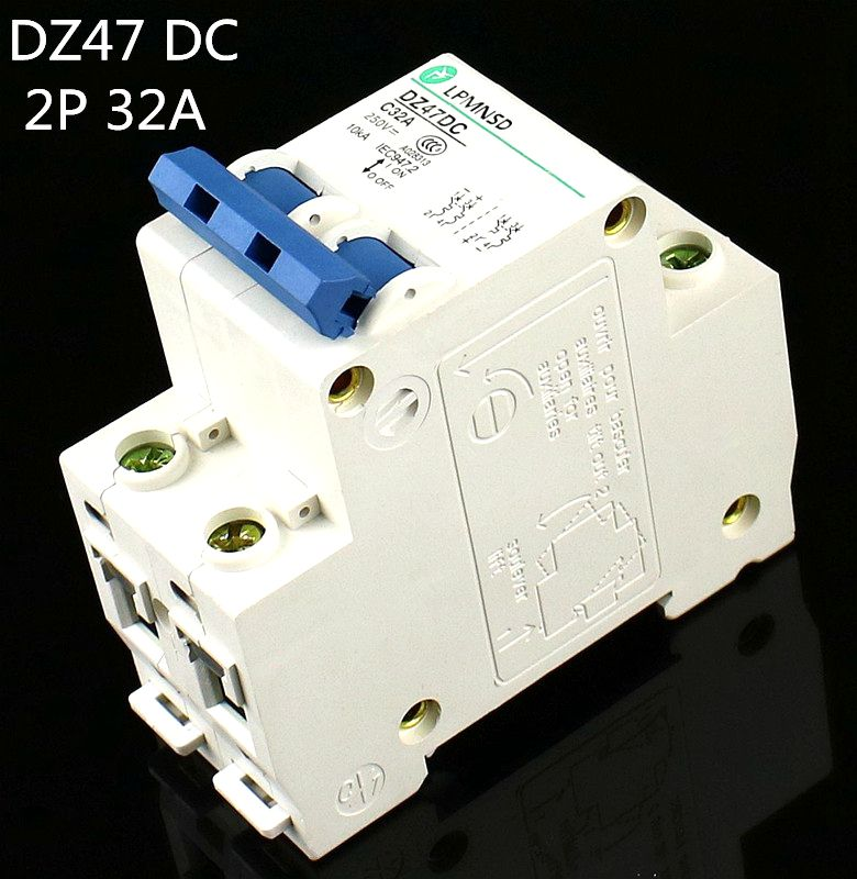 DC 400V 6KA Miniature Circuit Breaker 2P 2 Pole 20A Air Switch PV Solar System