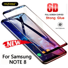 6D Tempered Glass For Samsung Galaxy Note 8 Screen Protector Protective Film 5D Full Cover Curved  Edge