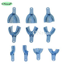10 pcs/set Dental Impression Tray Disposable Dentist Supply Teeth Whitening Blue