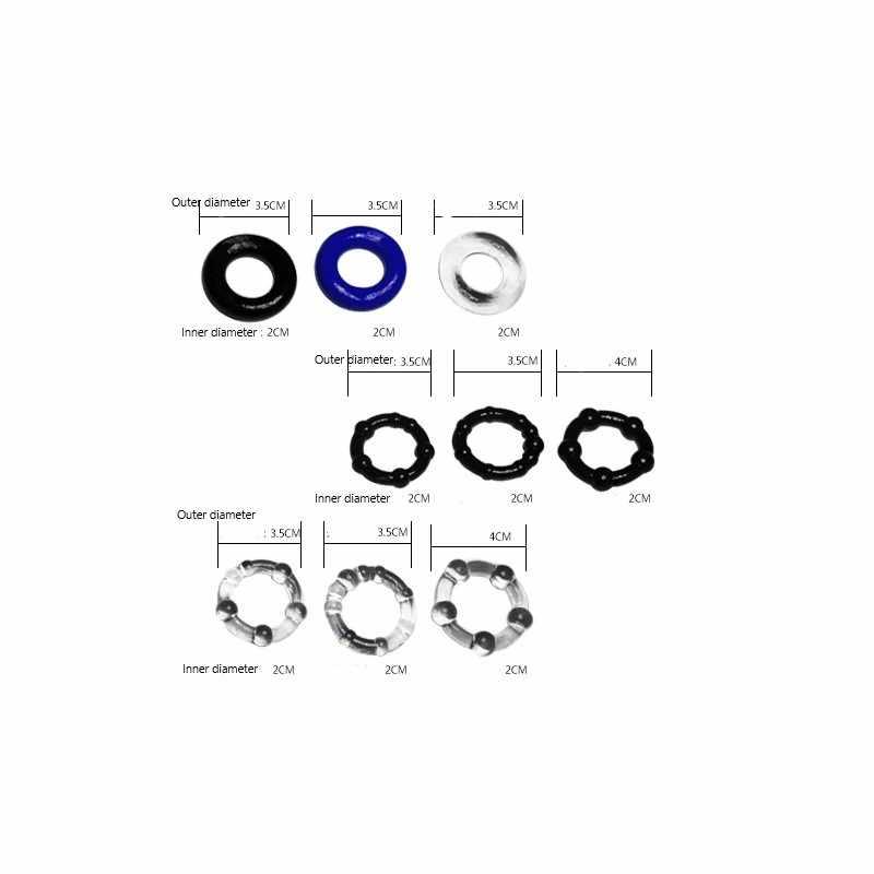 FFFSEX 3 шт. увеличитель пениса Кольцо Задержка эякуляции член увеличение пениса тренажер мужские интимные силиконовые игрушки эластичный мужской продукт для взрослых