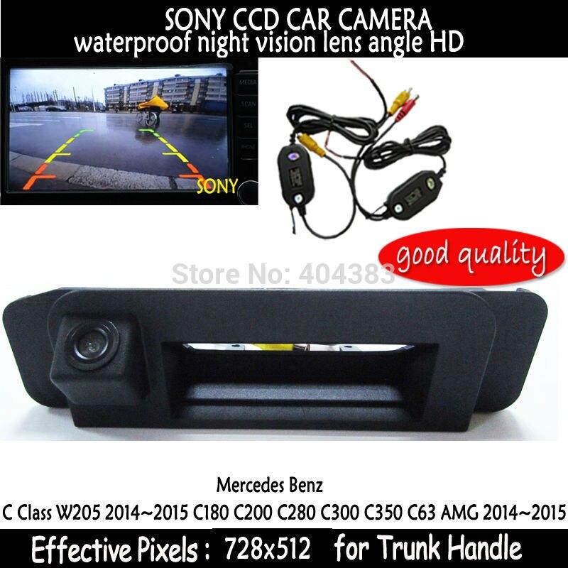 For Mercedes Benz CLA Class C117 2015 Car Rear View Camera waterproof Reverse Camera wireless sony HD CCD RCA NTST Trunk handle